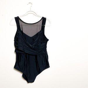 Adore Me Plus Size Contour Black Bathing Suit 1X